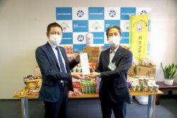 ノースランドが富山市社会福祉協議会へ菓子を寄贈