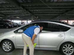 関西遊商がホール駐車場の特別警戒巡回活動