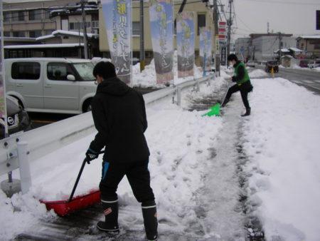 2020年12月(山形県) 山形店 店舗周辺歩道の除雪