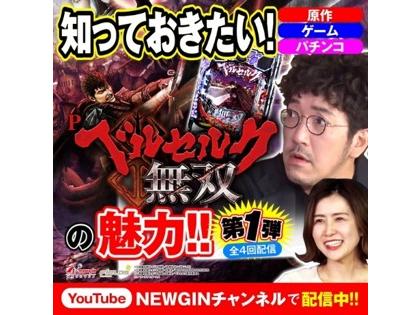 newgin channel_【Pベルセルク無双】導入前の新台の魅力を徹底解剖!!