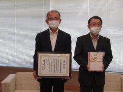 広島県遊協 延川理事長(左側)と広島県教育事業団 樽谷理事長